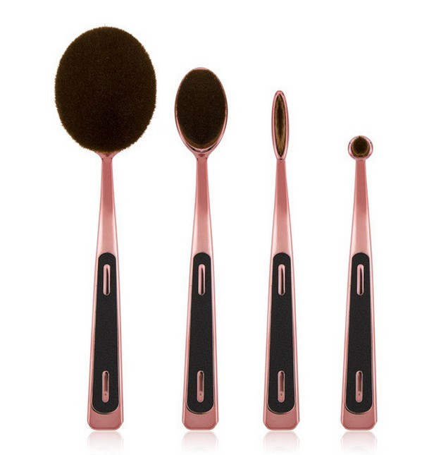 26pcs black handle nylon hair set makeup brushes powder brush cosmetic
