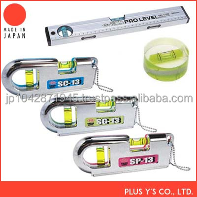 Aluminum spirit level with a bubble tube Made in Japan