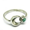 Half Moon Design Green Turquoise 925 Sterling Silver Bezel Ring, Indian Silver Jewelry Online, 925 Silver Jewelry