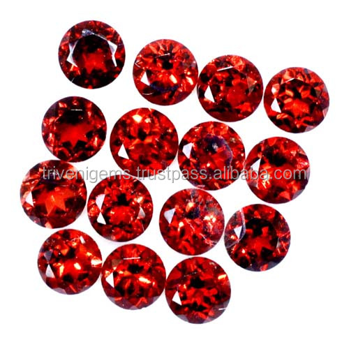Fine Quality ! 9.80 Ct. l Natural Red Garnet 5mm Faceted Round Cut Loose Gemstones