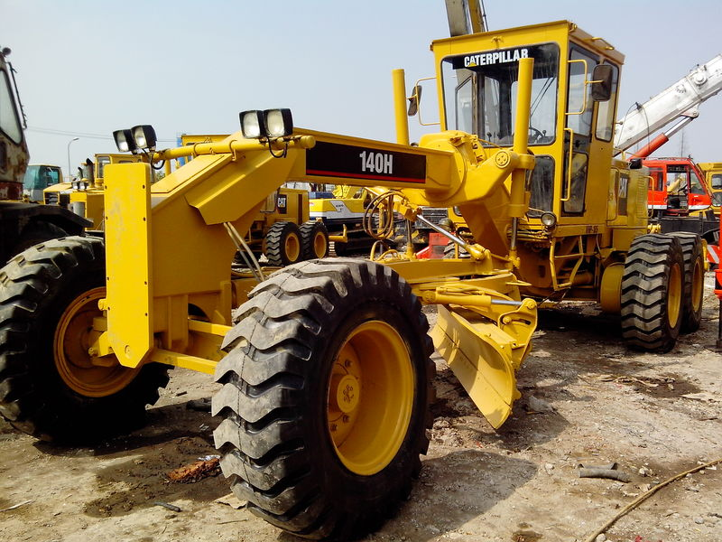 Used Motor Grader CAT 140H With Ripper Front Blade /Caterpillar 120H 12H 140G 140 160H Grader