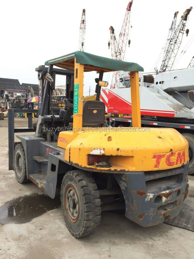 Japan made used TCM forklift 7ton FD70, used TCM 7ton forklift for sale, japanese forklift 7 ton