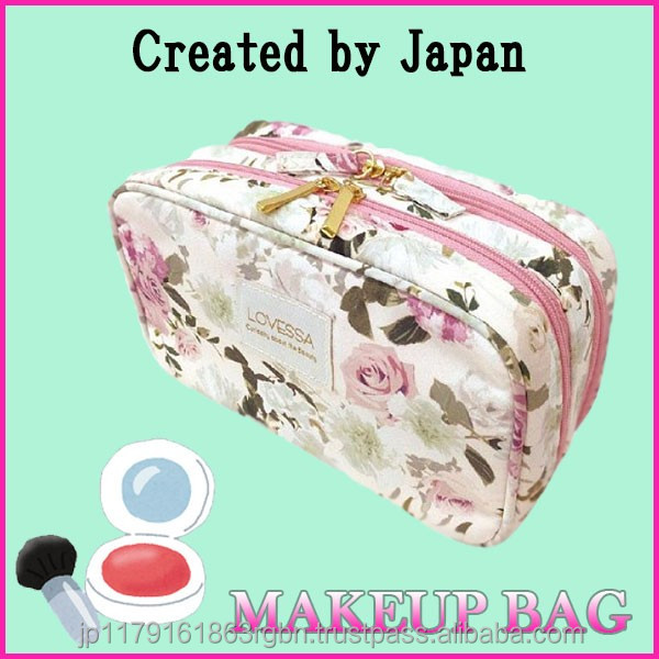 Compact and Multi-functional cosmetic pouch bag for woman , ladies created by Japan