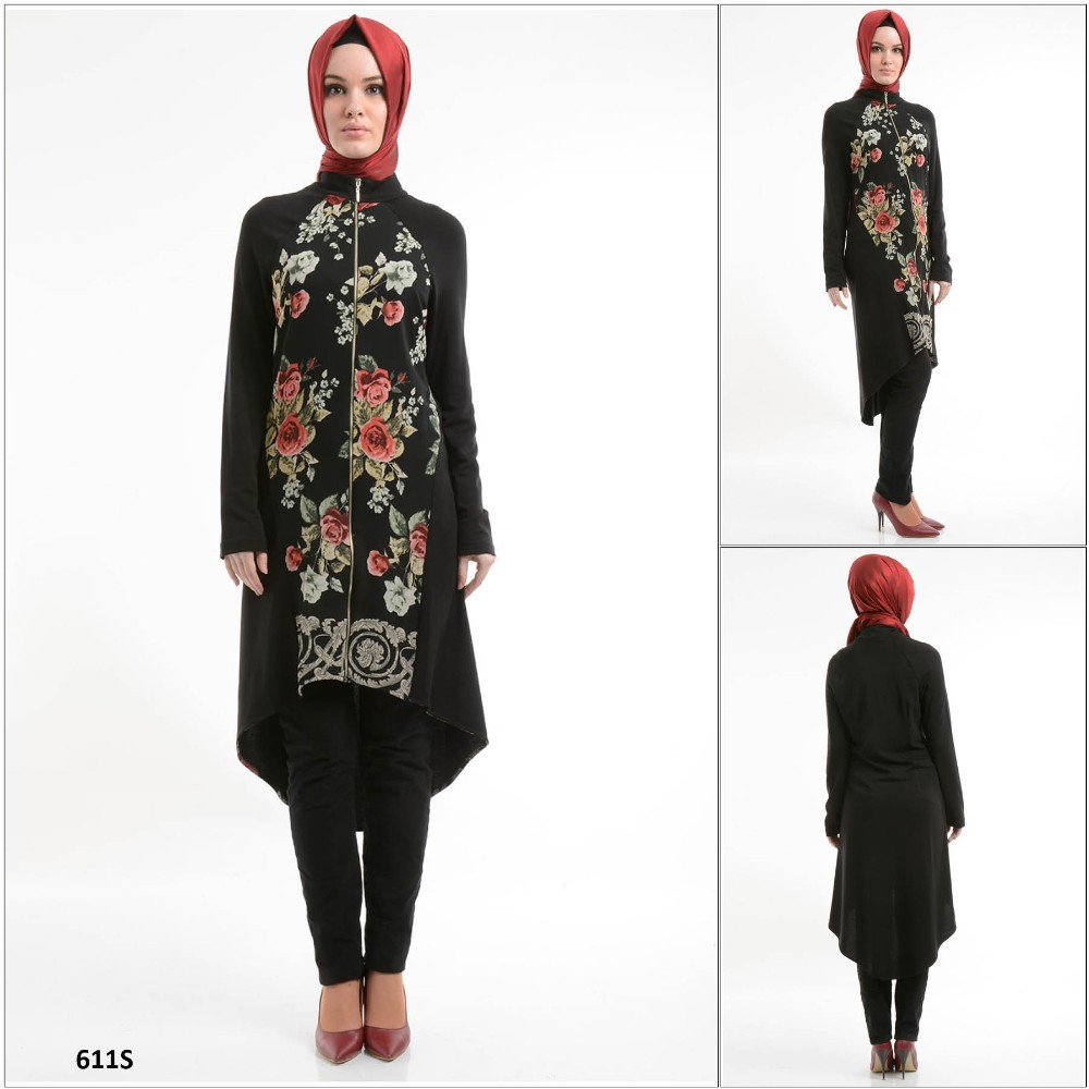 ALL60 2015 New Fashion Exclusive Hot Selling short Sleeve Turkish Tunic & hijab