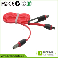 Hot selling unique oem custom colorful led micro usb cable with i-Phone 5/6/6 or Android