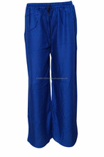 INDIAN WOMEN'S GYPSY HIPPIE SEXY WIDE LEG BLUE SOLID HAREM PALAZZO PANTSYoga pants Gypsy Hippie Baggy Pants wholesale
