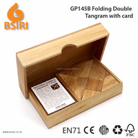Wooden Tangram Puzzle with Card Wooden Blocks