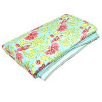indian print colour pattern multi design home use handmade dohar quilt