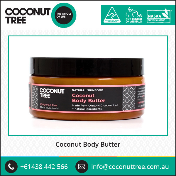 High Selling Beauty Cosmetic Body Butter made of Organic Coconut