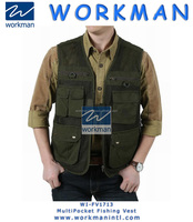 WFS JEEP Men's Spring 100% Cotton Outdoor Sports Fishing Vests Coats Man Casual Brand Reporter Shoot Camp Jacket Active Coat