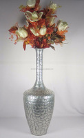 Long Vase /outdoor metal vases / silver metal flower vase