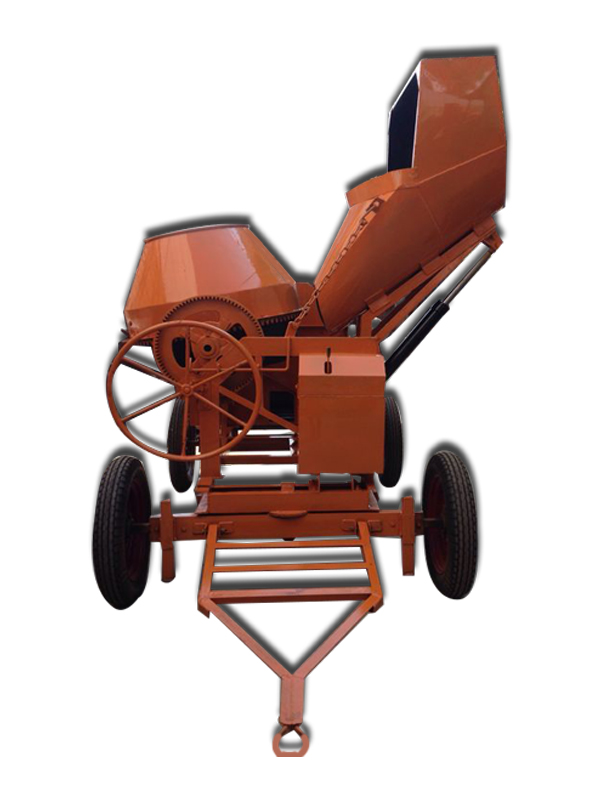 Hydraulic Concrete Mixer with Hopper -Electric Operated