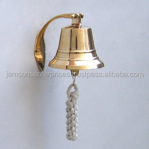 Best Nautical Solid Brass Ship Bell with Mirror polish Silver and nickel plating, Best price nautical items