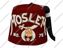 Masonic Shriner's Fez hat 1 to 8 Rows