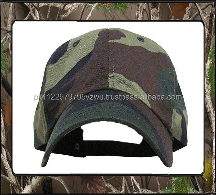 Customized logo bulk wholesale Camouflage Military cap, camo Army hat,100% cotton made with Metal Buckle Closure