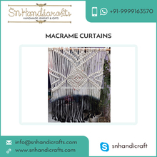Trendy Hand Woven Macrame Curtain/Wall Hanging at Affordable Price