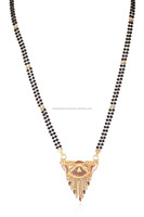 Stunning Women Mangalsutra In BIS Hallmark Solid 18K Yellow Gold