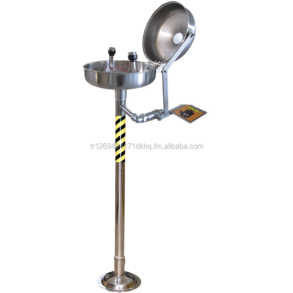 Stainless Steel Eye/Face Wash Station EN 15154 & ANSI Z358 Certified