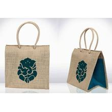 Jute Gift bag with rope handle/cheap promotional handled jute shopping bag wholesale,Stylish Printable Jute Bag,Jute Bags With L