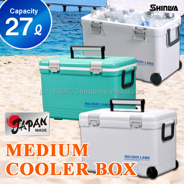 Cooler box27L Japan made ice warm and cool box fishing outdoor leisure pp bag in box wine cooler HOLIDAY LAND COOLER CBX 27L