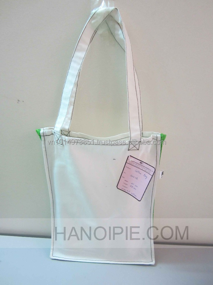Organic Cotton Grocery Bags Wholesale | Hanoi Shopping Handbags 026CB