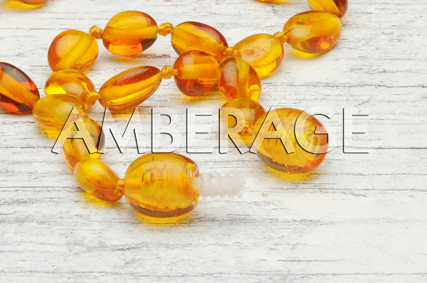 High Quality Natural Amber Baby Teething necklaces - Beans Multi5 color