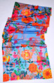 "best digital print silk scarf size 28""x72"""