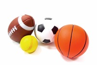 Set Of 4 Sports Balls For Kids (Soccer Ball, Basketball, Football, Tennis Ball)