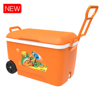 Outdoor Beer Cooler Plastic Box 60L - With Wheels Vietnam