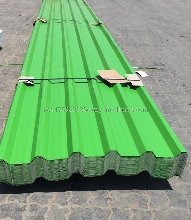 Ghosh Metal Galvanized Iron Metal Roofing sheet Ral 6038 For Ware House Shade
