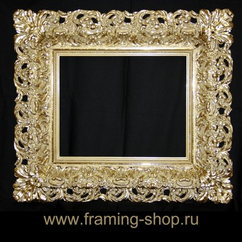 Doubled Barocco bronze picture frame