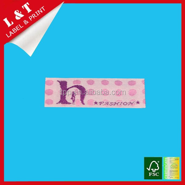 Fashionable garment soft collar woven label for sports clothing