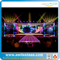 China supplier Mobile aluminum assembly led stage box