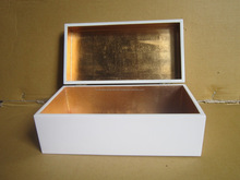 Simpe White lacquered Boxes/ Empty Gift Boxes with White Lacquer cover and Sliver immitation inner