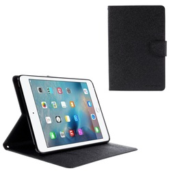 MERCURY GOOSPERY Leather Wallet Cover for iPad Mini 4 with Stand Leather Case - Black