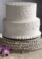 "Crystal Wedding Cake Stands Cake Cup Plates Centerpieces 14"" (Free Shipping )"