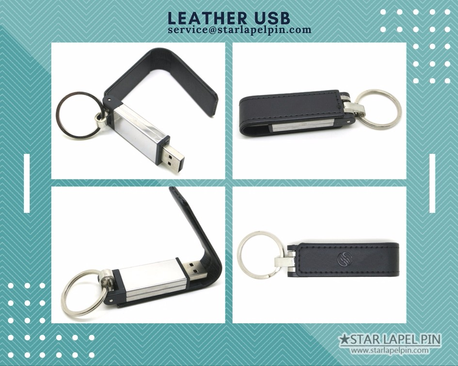 Cheap 16 Gb Bulk Special Black Leather USB Flash Drive
