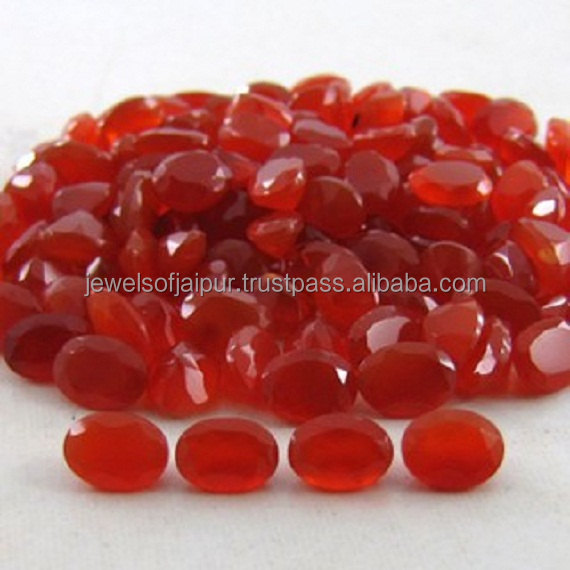 Natural Carnelian Oval Faceted Cut Calibrated Size 6x4mm - 12x10mm Loose Gemstone Lot