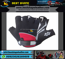 new style half finger custom made cycling gloves