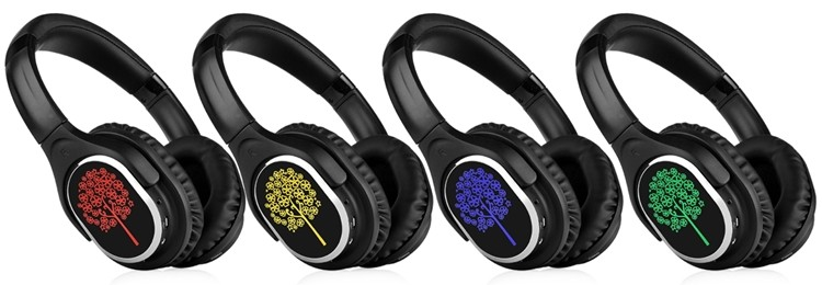 Comfortable Stereo Wireless Headset Durable Silent Disco Headphone Hight Quality