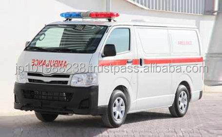 USED AMBULANCE - TOYOTA HIACE 15STR STD TURBO AMBULANCE (LHD 820100 GASOLINE)