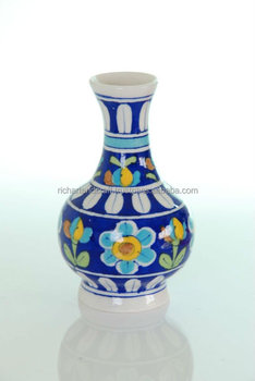 Blue Pottery Pot Vase Pot Home Decor Gift Rich Art And Craft
