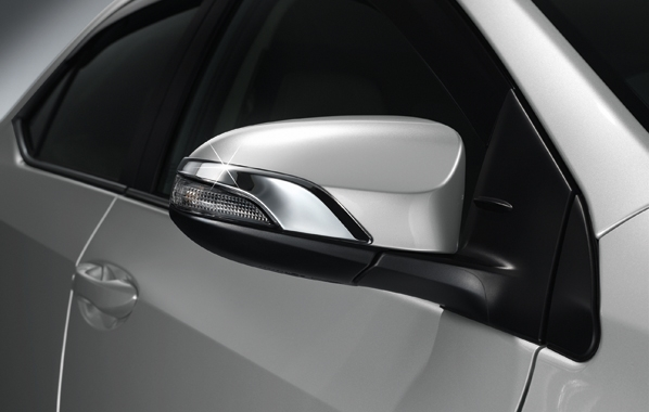 SIDE MIRROR CHROME GARNISH FOR TOYOTA ALL NEW CAMRY , COROLLA ALTIS, YARIS , VIOS 2014