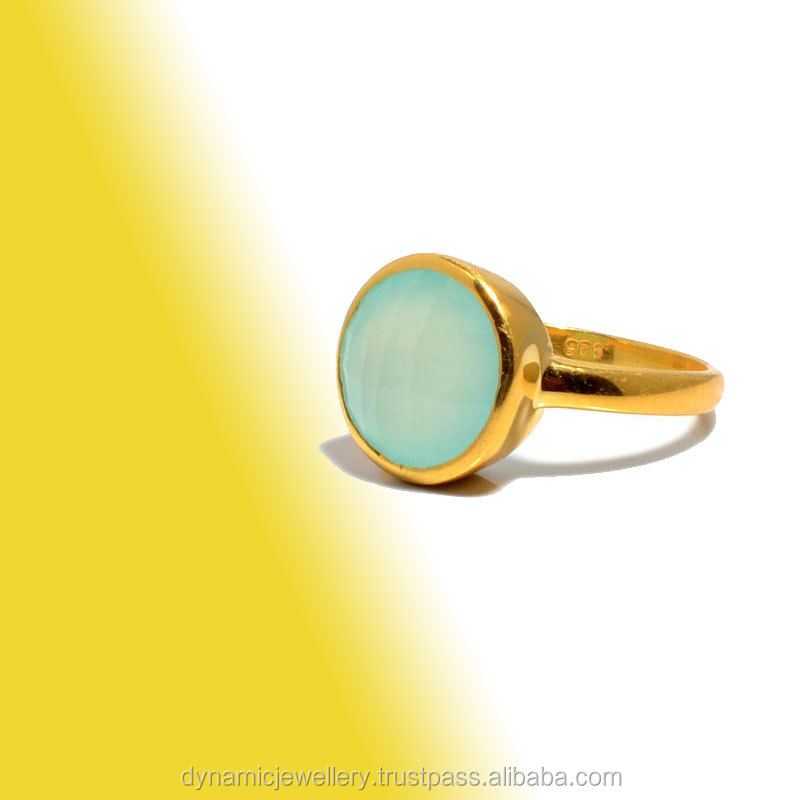 wholesale 18 kt yellow gold vermeil gemstone ring