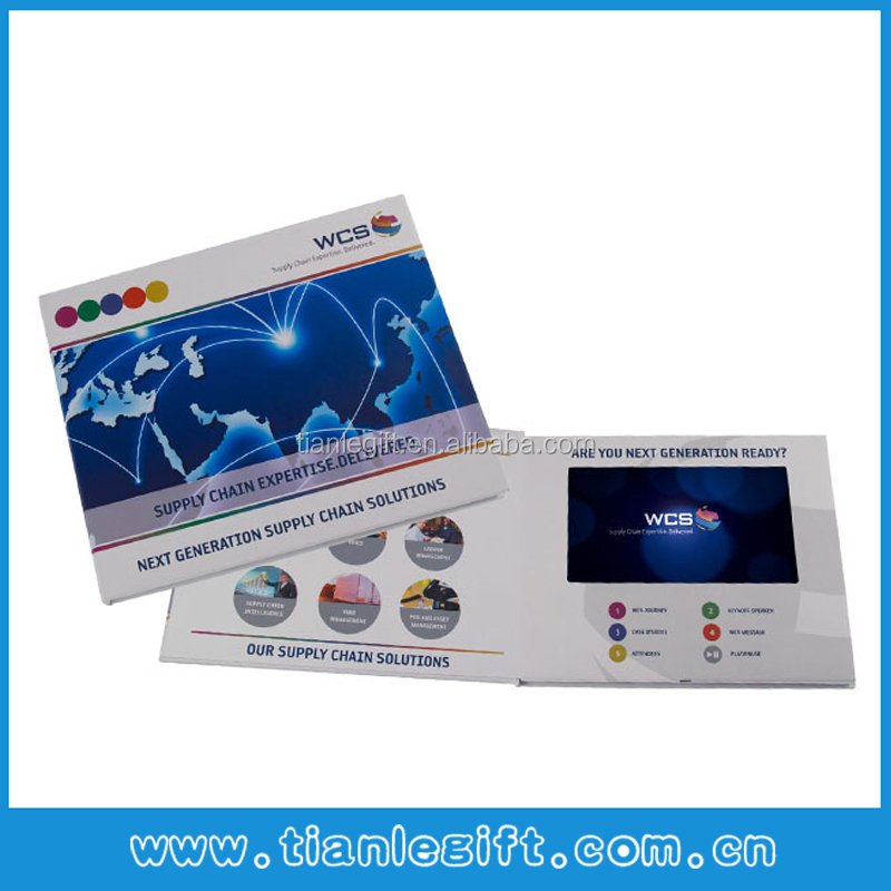 High Quality 10.1 Inch LCD Video Cards Video Brochure Video Book With Touch Screen