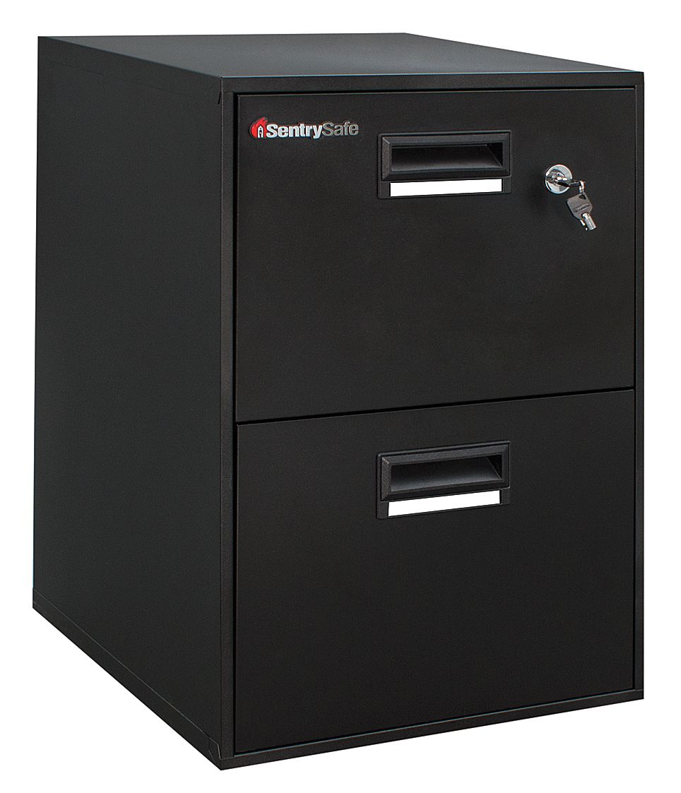 FIRE SAFE Two-Drawer Water Resistant Fire File, 18 1/4w x 21d x 27 3/4h, Black