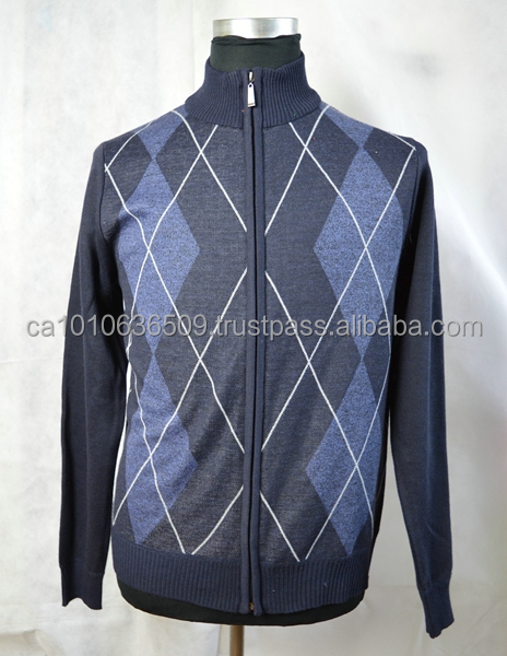 Men's zipper up sweater/cardigan