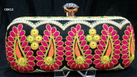 CBK12 Vintage Cotton Fabric Traditional Ethnic Banjara Kutch Indian Ladies Clutch Hand Bags Purse India Handicraft Potli Bags