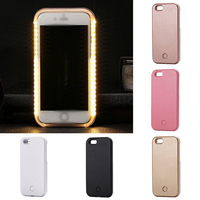 For i6/6S Plus LED Sense Flash Up Light Transparent Shinning Colorful Phone Glitter Mobile Phone For lumme Cover