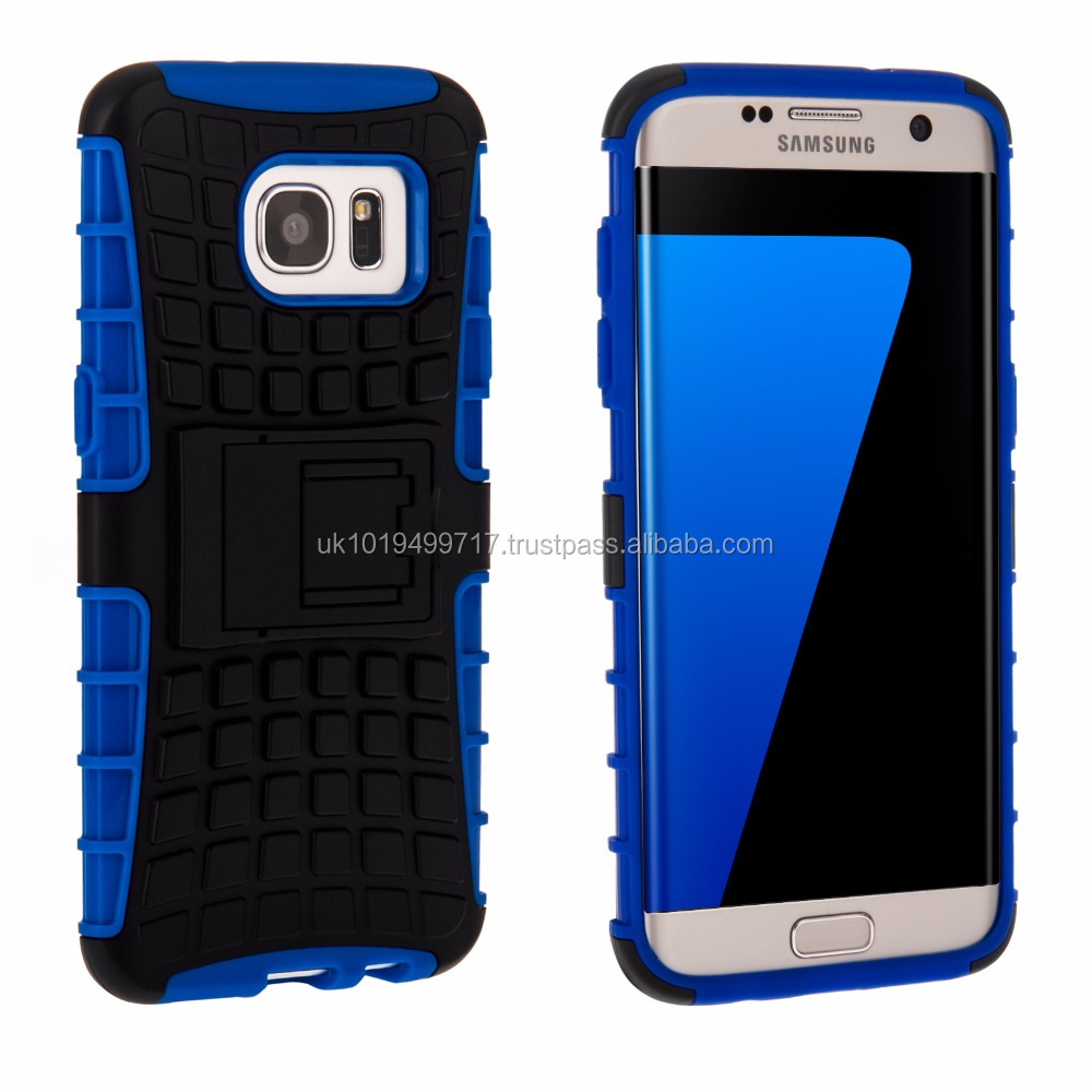 Tough Stand Hard Case for Samsung Galaxy S7 Edge Blue